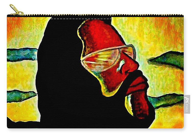 Nature Carry-all Pouch featuring the painting Natural Man by Kim Johnson