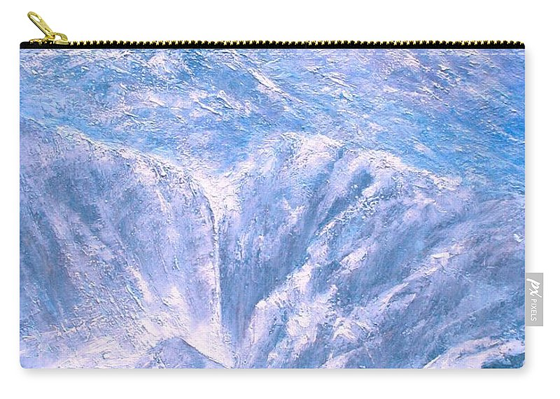 Landscape Carry-all Pouch featuring the painting Near the Tetons by Jim Gola