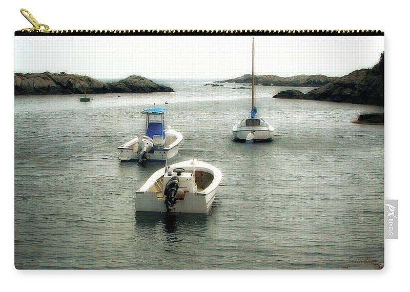 Ocean Carry-all Pouch featuring the photograph Newport Rhode Island Shoreline by Michelle Calkins