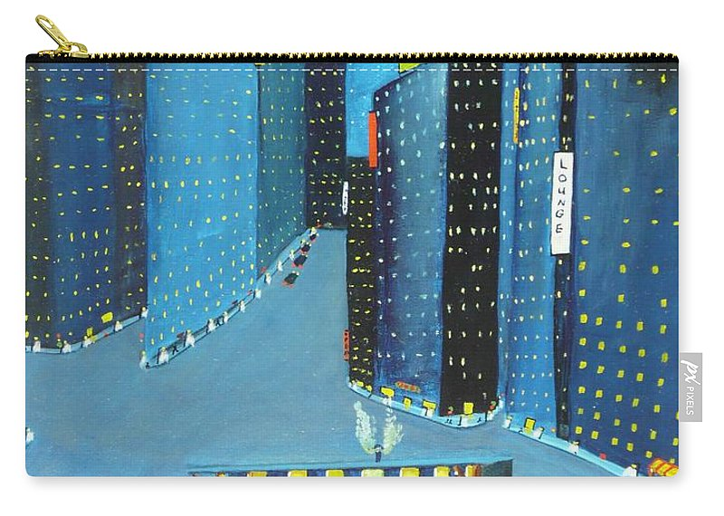 City Carry-all Pouch featuring the painting Night People by Anthony Dunphy