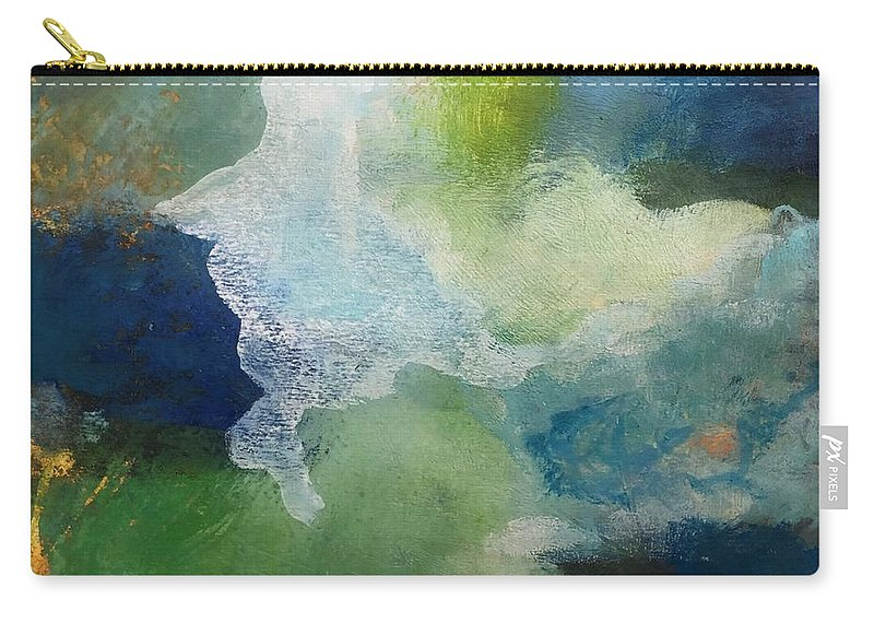 Abstract Carry-all Pouch featuring the painting Night Skies by Carolyn Rhinebarger