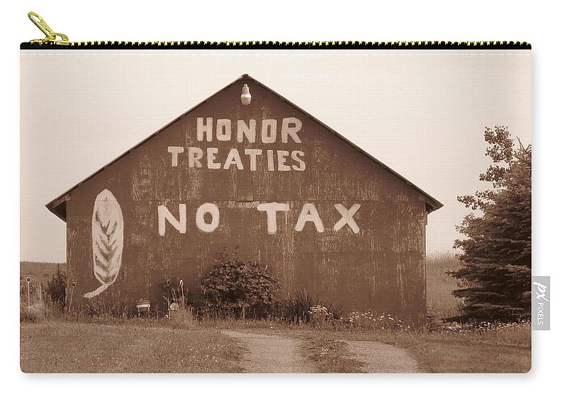 Barn Carry-all Pouch featuring the photograph No Honor by Rhonda Barrett