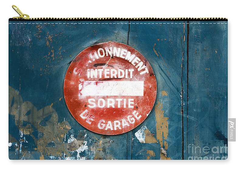 Door Carry-all Pouch featuring the photograph No Parking by DiFigiano Photography
