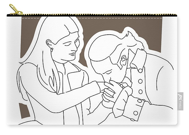 Hamilton Carry-all Pouch featuring the digital art No003 MY Hamilton musical poster by Chungkong Art