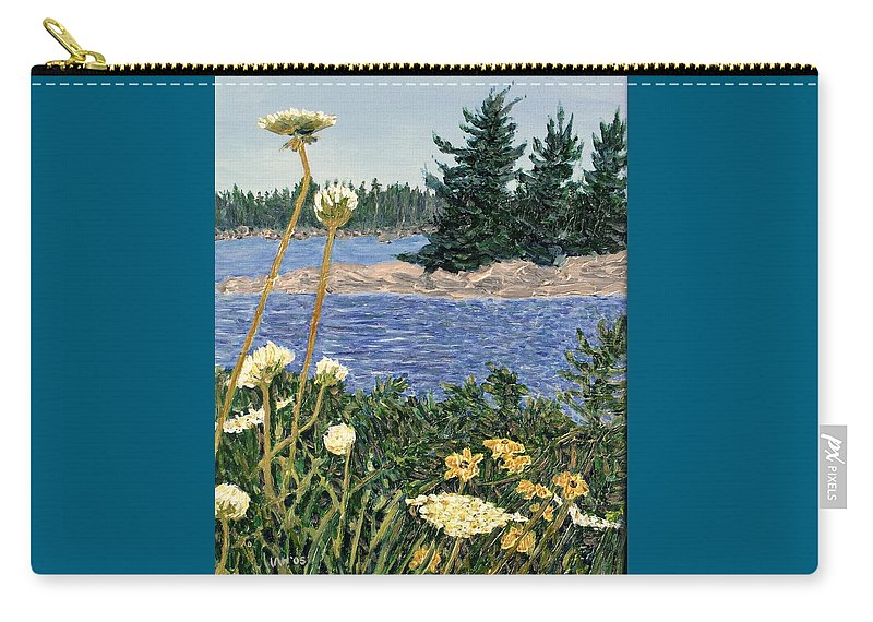 Northern Ontario Carry-all Pouch featuring the painting North Channel Lake Huron by Ian MacDonald