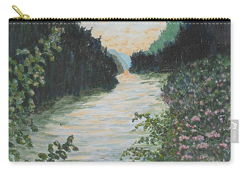 Agawa Canyon Carry-all Pouch featuring the painting North of Sault Ste. Marie by Ian MacDonald