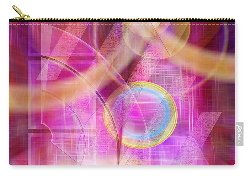 Northern Lights Carry-all Pouch featuring the digital art Northern Lights by John Robert Beck