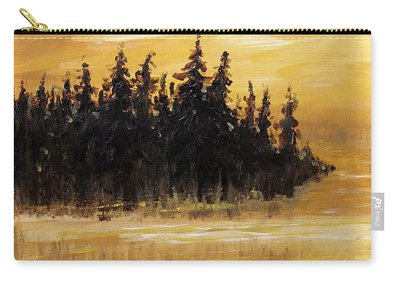 Northern Ontario Carry-all Pouch featuring the painting Northern Ontario One by Ian MacDonald