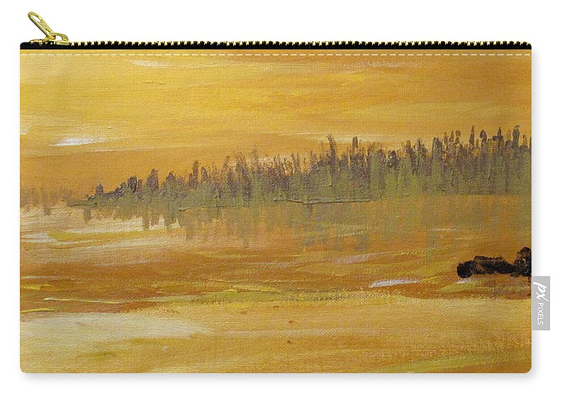 Northern Ontario Carry-all Pouch featuring the painting Northern Ontario Two by Ian MacDonald