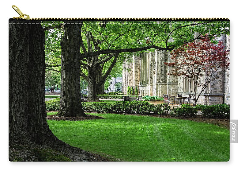 Butler University Carry-all Pouch featuring the photograph Oak Lined Campus by Scott Kinzie