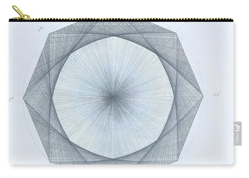 Octagon Carry-all Pouch featuring the drawing Octagon limits by Jason Padgett