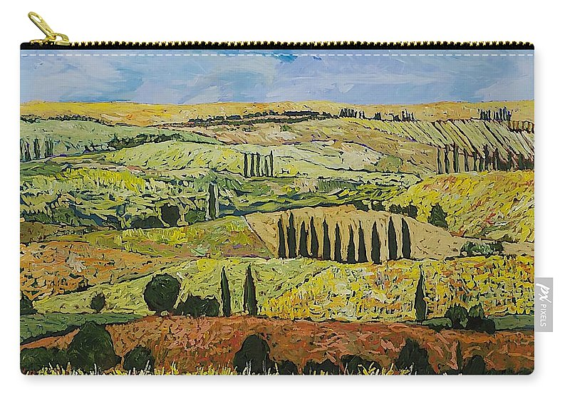 Landscape Carry-all Pouch featuring the painting October Liberation by Allan P Friedlander