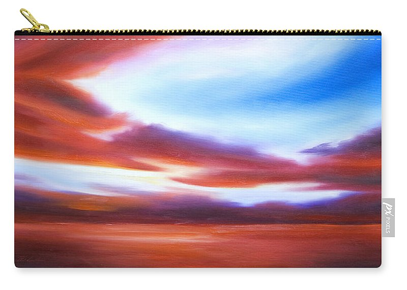 Skyscape Carry-all Pouch featuring the painting October Sky IV by James Christopher Hill