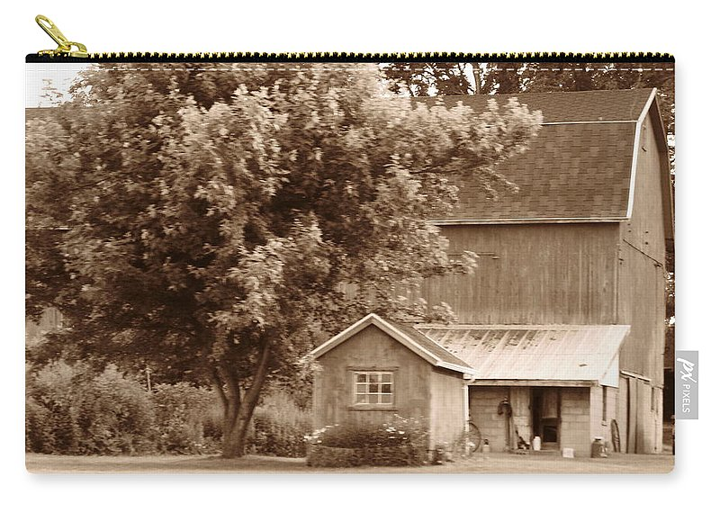 Barn Carry-all Pouch featuring the photograph Old - Fashioned Barn by Rhonda Barrett