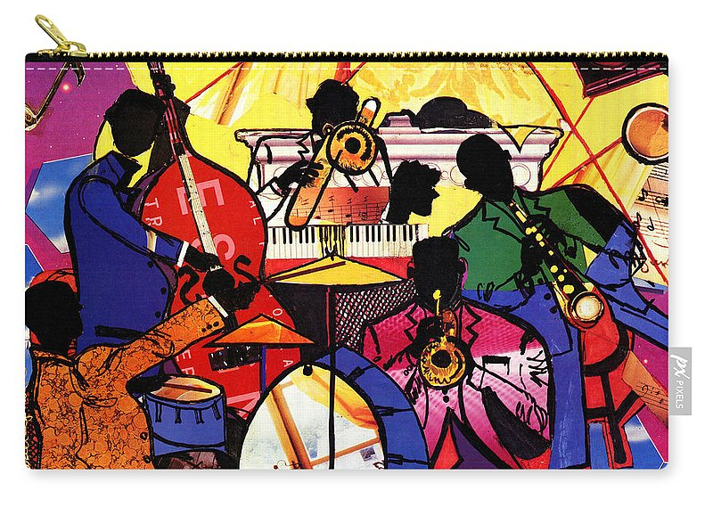 Everett Spruill Carry-all Pouch featuring the painting Old School Jazz by Everett Spruill