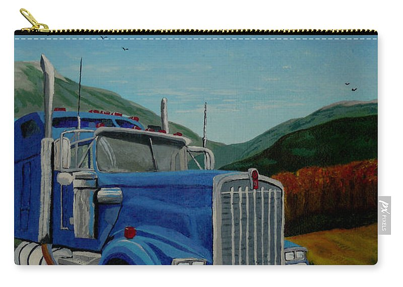 Truck Carry-all Pouch featuring the painting Big Blue by Anthony Dunphy