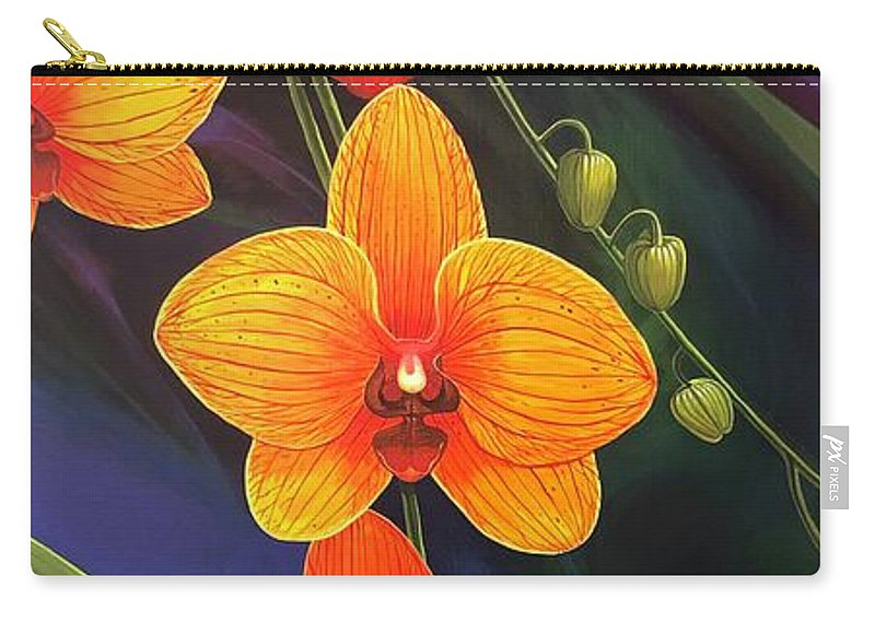 Orange Carry-all Pouch featuring the painting One Summer Dream by Hunter Jay