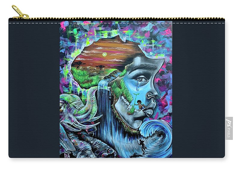 Bhm Carry-all Pouch featuring the painting Our History- BHM by Artist RiA