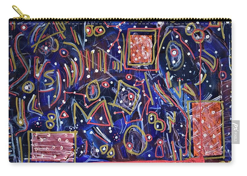 Natural Carry-all Pouch featuring the painting Outta This World by Pam Roth O'Mara