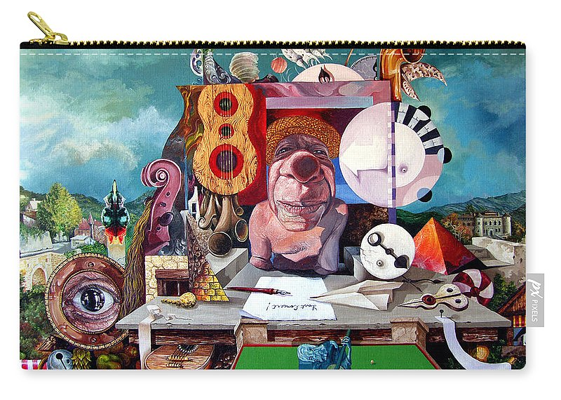 Surrealism Carry-all Pouch featuring the painting Pablos Last Concert by Otto Rapp