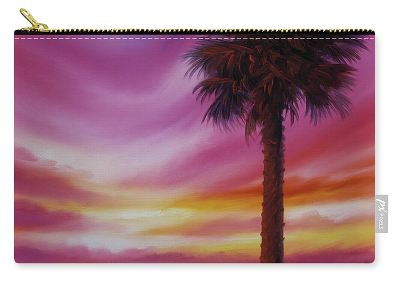 Sunrise Carry-all Pouch featuring the painting Palmetto Moon by James Christopher Hill