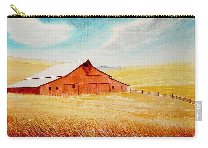 Wheat Carry-all Pouch featuring the painting Palouse Air by Leonard Heid