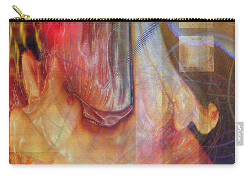 Passion Play Carry-all Pouch featuring the digital art Passion Play by John Robert Beck