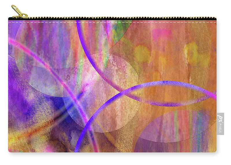 Pastel Planets Carry-all Pouch featuring the digital art Pastel Planets by John Robert Beck