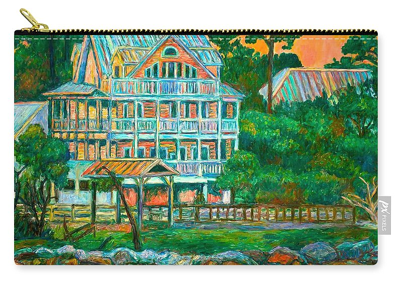 Landscape Carry-all Pouch featuring the painting Pawleys Island Evening by Kendall Kessler