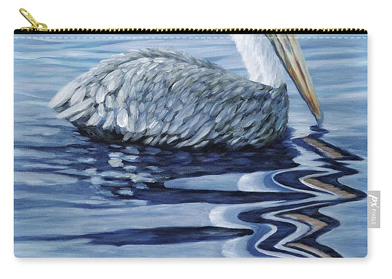 Pelican Carry-all Pouch featuring the painting Pelican Bay by Danielle Perry