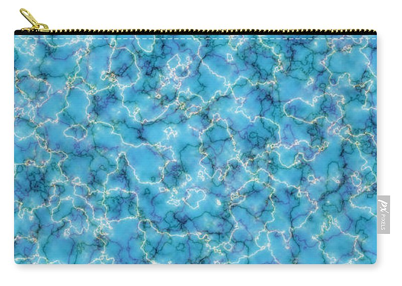 Abstract Art Carry-all Pouch featuring the digital art Perfectly Blue by Log and Mitten