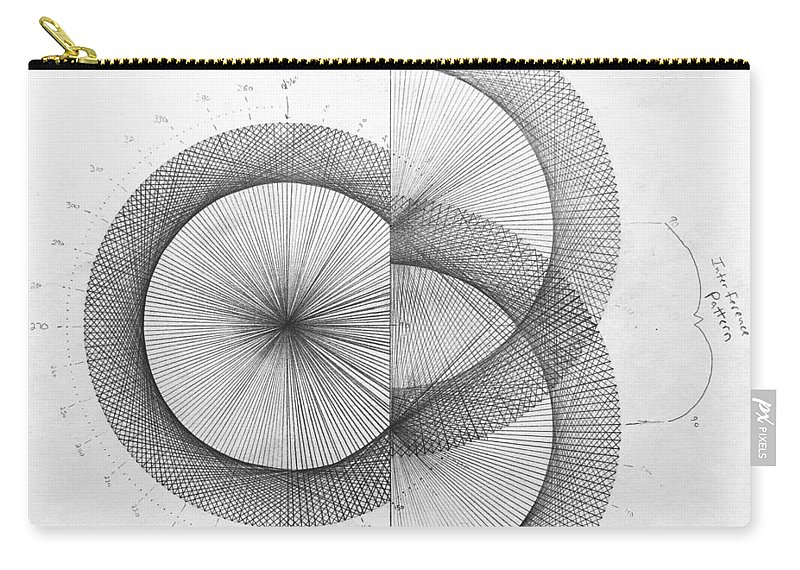 Photon Carry-all Pouch featuring the drawing Photon Double Slit high res. by Jason Padgett