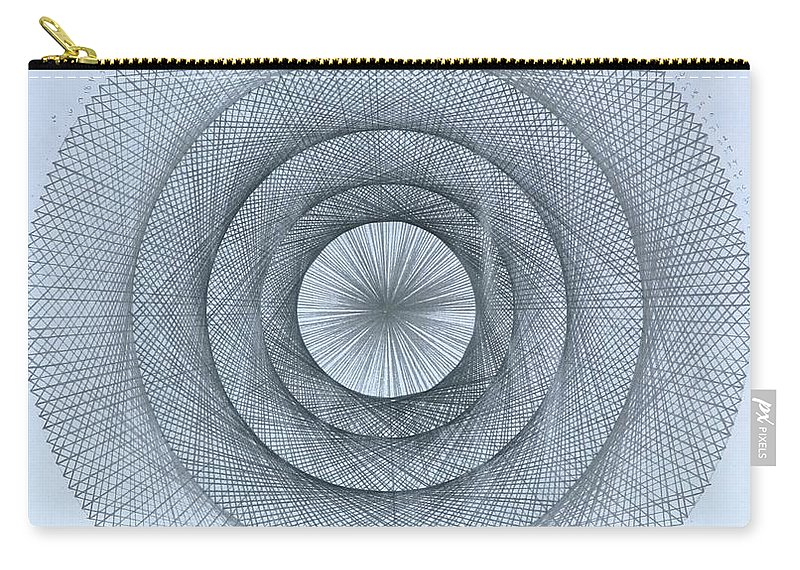 Pi Carry-all Pouch featuring the drawing Pi within Pi by Jason Padgett