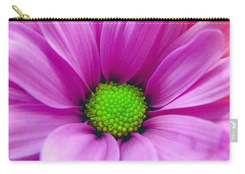 Macro Carry-all Pouch featuring the photograph Pink Petals by Rhonda Barrett