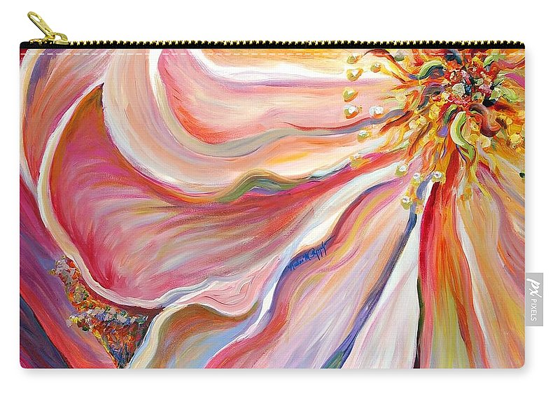 Pink Poppy Carry-all Pouch featuring the painting Pink Poppy by Nadine Rippelmeyer