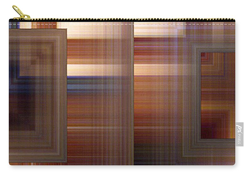 Abstract Carry-all Pouch featuring the painting Plaid Squared by RC DeWinter