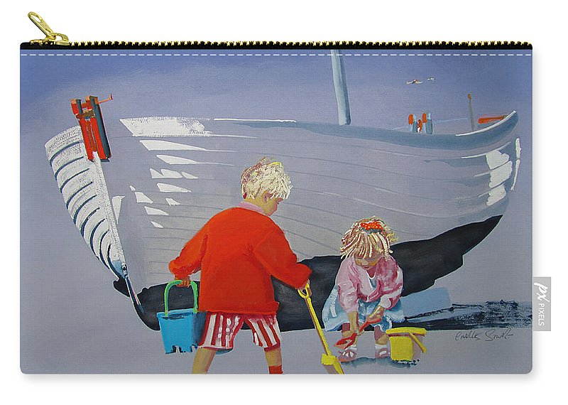 Kids Carry-all Pouch featuring the painting Play Hour by Charles Stuart