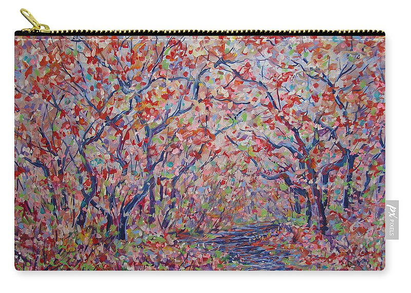 Landscape Carry-all Pouch featuring the painting Poetic Forest. by Leonard Holland