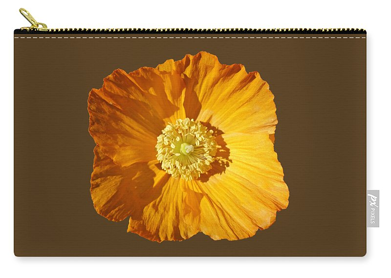 Yellow Poppy Carry-all Pouch featuring the painting Poppy by Charles Stuart