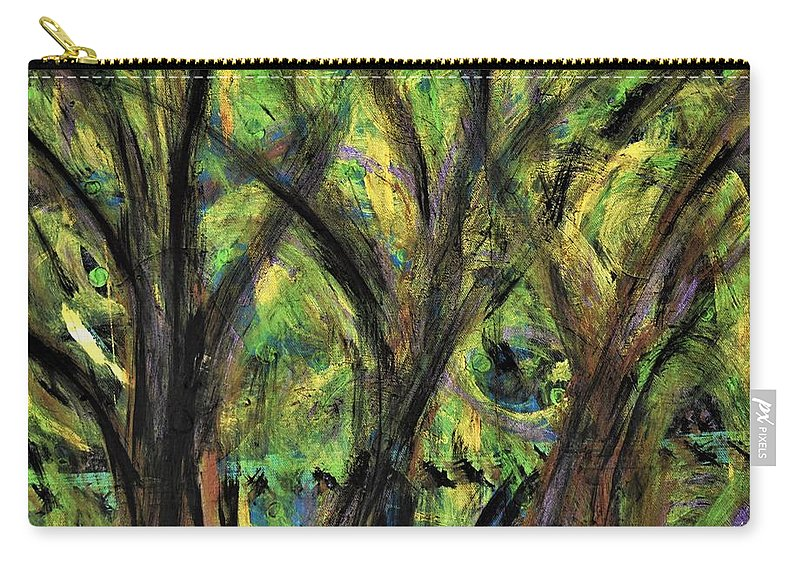 Fall Carry-all Pouch featuring the painting Prairie Gusting by Pam Roth O'Mara