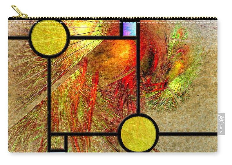 Prairie View Carry-all Pouch featuring the digital art Prairie View by John Robert Beck