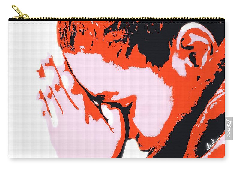 Pray Carry-all Pouch featuring the painting Precious Prayer by Jack Bunds