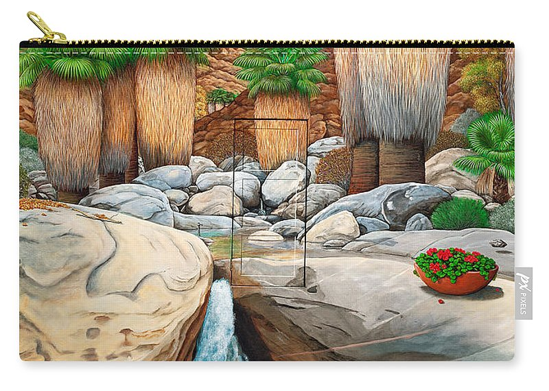 Landscape Carry-all Pouch featuring the painting Primary Escape Route by Snake Jagger
