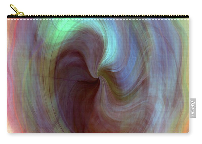 Psychedelic Bubble Carry-all Pouch featuring the digital art Psychedelic Bubble by Linda Sannuti