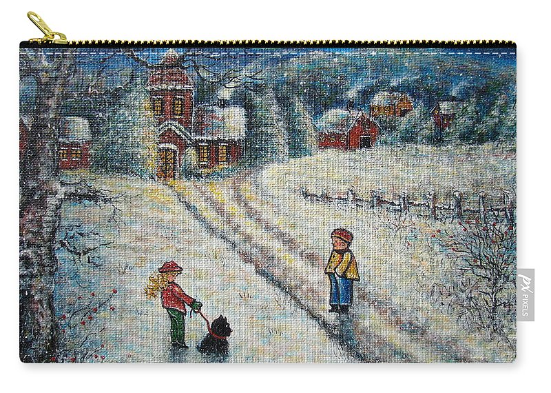 Landscape Carry-all Pouch featuring the painting Puff and Kassidy by Natalie Holland