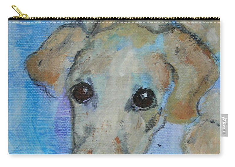 Acrylic Carry-all Pouch featuring the drawing Pupster by Cori Solomon