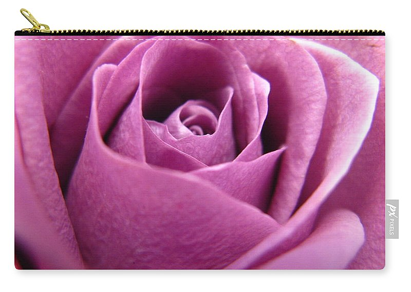 Rhonda Barrett Carry-all Pouch featuring the photograph Purple Beauty by Rhonda Barrett