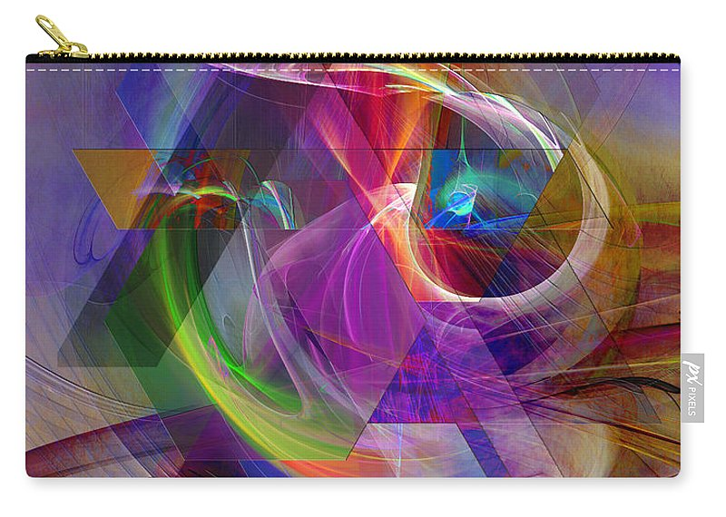 Pyramid Timeline Carry-all Pouch featuring the digital art Pyramid Timeline by John Robert Beck