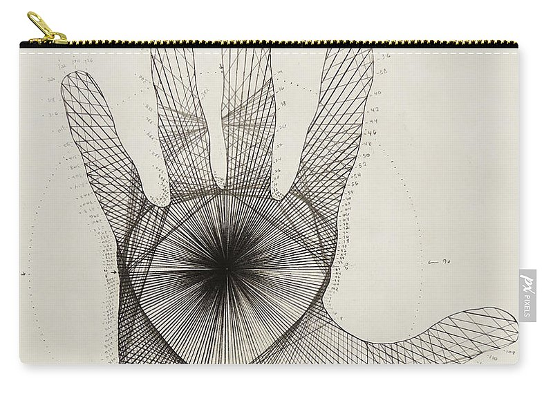 Quantum Carry-all Pouch featuring the drawing Quantum Hand by Jason Padgett