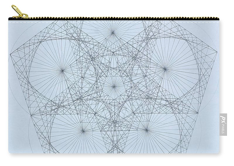 Star Carry-all Pouch featuring the drawing Quantum Star high res. by Jason Padgett